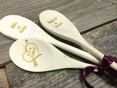 Set of 3 Rustic Wood Spoon