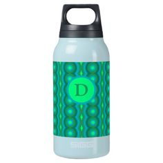 Shop Abstract ornament with green and blue chains. insulated water bottle created by NsandrArt. Green Water Bottle, Sigg Bottles, Create Your Own, Create Yourself, Non Toxic Paint, Insulated Water Bottle, Comfort Colors, Travel Mugs, Blue Abstract
