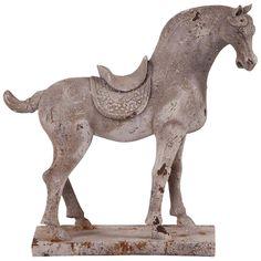 Howard Elliott Faux Stone Accessories Distressed Horse Sculpture
