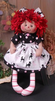 Doll Crafts, Sewing Crafts, Sewing Projects, Sewing Tips, Diy Projects, Fabric Dolls, Rag Dolls, Sock Dolls, Fabric Art