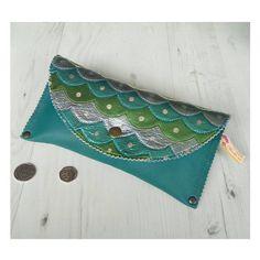Leather Mermaid Purse  Mermaid bag  scales bag  Mermaid