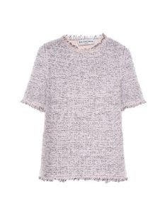 Short-sleeved tweed top | Balenciaga | MATCHESFASHION.COM US
