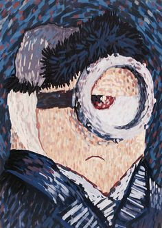 A minion ode to Vincent van Gogh's Self-Portrait with Bandaged Ear