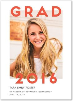 Calling all 2016 graduates! Congrats! Share your accomplishment with Tiny Prints graduation announcements.