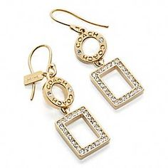 PAVE SQUARE DROP EARRINGS