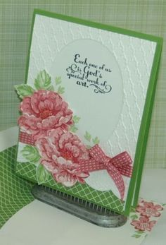 Stampin-Up-Fancy-Fan-Textured-Impressions-Embossing-Folder-New