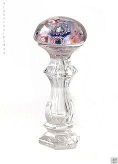 RARE ANTIQUE FRENCH GLASS PAPERWEIGHT WAX SEAL BLOWN AND CUT CLICHY SAINT LOUIS #Clichy #Gothic
