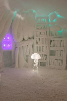 At Alpeniglu Village in Austria, everything from beds to books are made of ice. | 8 Ice Hotels From Around the World