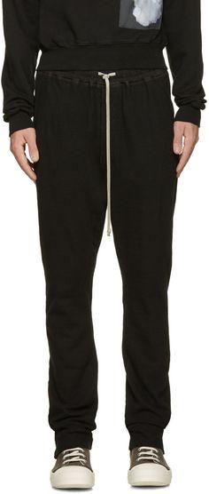 RICK OWENS DRKSHDW Black Berlin Lounge Pants. #rickowensdrkshdw #cloth #pants