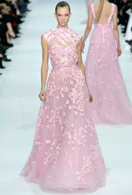 Thinking of a pink wedding gown? Elie Saab 2013.  #celebstylewed @celebstylewed