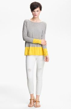 Vince Colorblock Cotton Sweater available at #Nordstrom