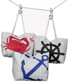 Re-sails Shop, want a unique gift from Annapolis that doesn't say Annapolis, MD right on it. Then get something from Re-sails, they recycle old sails and convert them into our one of a kind Re-Sails bags!
