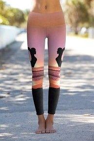 Beach Yoga - Printed Performance Leggings