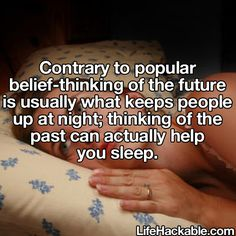 Remember the good times and get some sleep hack