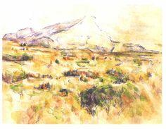 Acheter Tableau 'mont sainte victoire (15)' de Paul Cezanne - Achat d'une reproduction sur toile peinte à la main , Reproduction peinture, copie de tableau, reproduction d'oeuvres d'art sur toile