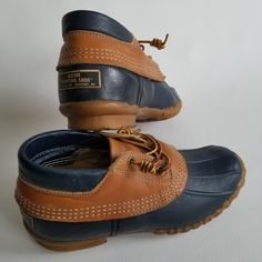 5c3844f0464 Vtg LL Bean Womens Duck Boots Maine Hunting Shoe Made in USA Size 7 Blue  Moc Ankle Rain Boot by TraSheeWomen on Etsy  llbean  beanboots   mainehuntingshoes ...