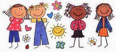 PUNTO DE CRUZ MUÑECAS PALITO - Pesquisa do Google Simple Line Drawings, Art Drawings For Kids, Drawing For Kids, Cute Drawings, Easy Crafts For Kids, Art For Kids, Friends Clipart, Stick Figure Drawing, Doodles