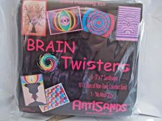 Brain Twisters  Artisand Sand Art Sand Painting Kit 6 Designs 10 Sand Vials Tray #ArtiSands