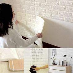 Brick wallpapers bring an urban feel into your home or office, giving any room the appearance of having a real brick accent wall.Stereoscopic embossing effect in the surface, showing you more abundant visual experience; Easy Installatio...