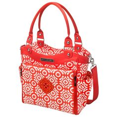 Petunia Pickle Bottom Diaper Bag City Carryall Glazed Relaxing in Rimini