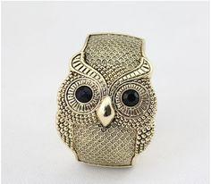 Punk Style Owl Bangle Bracelet