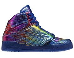 """adidas Originals by Jeremy Scott - JS Wings Synthetic """"Rainbow Hologram"""" 