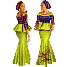 African Style Top and Long Skirt For Women Cotton Print Kitenge Ankara – Afrinspiration Long African Dresses, Latest African Fashion Dresses, African Print Dresses, African Print Fashion, African Blouses, African Dashiki, Traditional African Clothing, African Style Clothing, Long Skirts For Women
