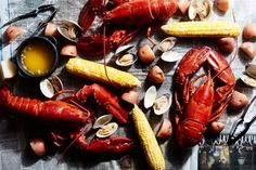 Learn how to make a seafood boil featuring lobster, crab, clam, or shrimp at home. Notes: Crab legs only need 10 minutes . Used Zatarans Seafood Boil Bag in our pot for two of us with salt and garlic. Lobster Boil, Crab Boil, Cajun Boil, How To Cook Liver, What To Cook, Seafood Dinner, Fish And Seafood, Fresh Seafood, Cooking Ingredients