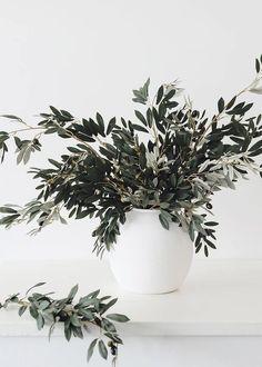 Oversized Olive Branch Arrangement in Large Vase Branch Centerpieces, Simple Centerpieces, Vase Arrangements, Fake Plants, Artificial Plants, Fake Flowers, Dried Flowers, Silk Flowers, Olives