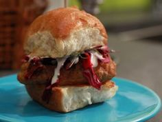 Beer Battered Codwich Sliders Recipe | Jeff Mauro | Food Network
