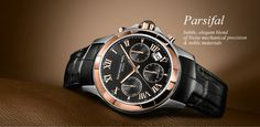 Rose Gold and Stainless Steel Mens Parsifal by Raymond Weil
