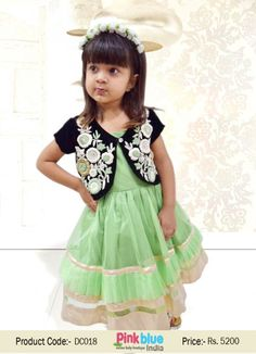 Designer Baby Girl Dresses - Princess Party Wear Dress in Heavy Hand  Embroidery 53b543c7c