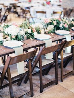 White and Pink Flower Garland Centerpieces | photography by http://www.michelleboydphotography.com