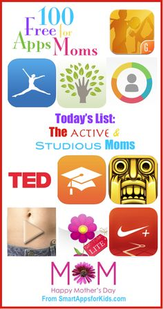 100 FREE Apps for Moms: Today — FREE apps for Active Moms and Studious Moms! http://www.smartappsforkids.com/2014/05/100-free-apps-for-moms-today-free-apps-for-active-moms-and-studious-moms.html