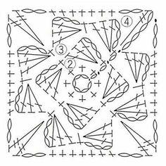 Transcendent Crochet a Solid Granny Square Ideas. Inconceivable Crochet a Solid Granny Square Ideas. Crochet Squares, Granny Square Pattern Free, Crochet Mandala Pattern, Crochet Motifs, Granny Square Crochet Pattern, Crochet Diagram, Crochet Stitches Patterns, Crochet Art, Crochet Granny