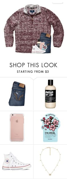 """exam week "" by ellienoonan ❤ liked on Polyvore featuring Hollister Co., TONYMOLY, Converse and Gucci"