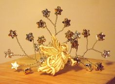 Silver & Gold Heavenly Angel Tiara for you or your precious pet by DoggieStyleByB on Etsy
