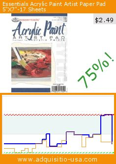 """Essentials Acrylic Paint Artist Paper Pad 5""""X7""""-17 Sheets (Misc.). Drop 75%! Current price $2.49, the previous price was $10.07. https://www.adquisitio-usa.com/royal-langnickel/essentials-acrylic-paint"""