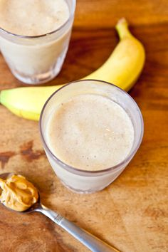 Creamy Cookie Butter White Chocolate Banana Smoothie.