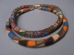 Brigitte Iländer's large bead crochet necklaces.