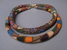 Brigitte Iländer's large bead crochet necklaces.
