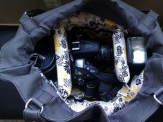 DIY Camera bag insert for purse...GREAT idea!!! perfect for me!!! thats why i always forget my camera lol i have a tiny bag for it but if i had its own pocket id just leave it in there lol