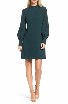 Eliza J Bishop Sleeve Shift Dress