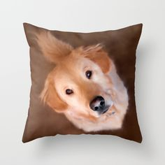 Buy Golden Retriever Throw Pillow by Christina Rollo. Worldwide shipping available at Society6.com. Just one of millions of high quality products available.