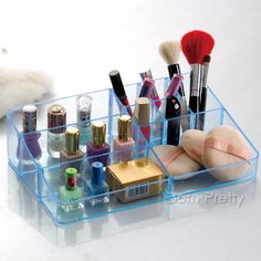 $10.16 Farmhouse Style Cosmetic Organizer Practical Makeup Display Storage Case - BornPrettyStore.com