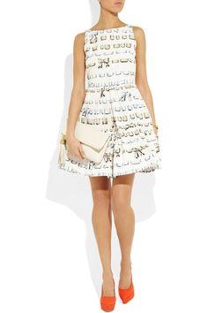 RED VALENTINO  Printed taffeta dress