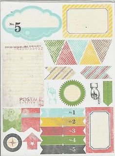 Stampin' Up! Epic Day This and That Designer Stickers 4 Sheets 131271