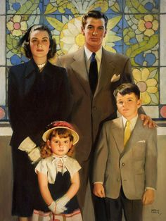 Andrew Loomis - this was how it was supposed to be.........but sadly, not every family was like this.