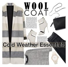 """""""Cold Weather Essentials: Wool Coat"""" by inyene105 ❤ liked on Polyvore featuring Topshop, Karl Lagerfeld, MANGO, Giuseppe Zanotti, StreetStyle, trending, cold, essentials and woolcoat"""