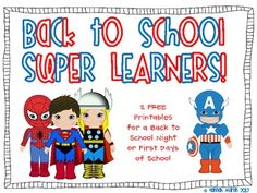 Enjoy these superhero themed printables for parents and students to fill out in the first days of school!Be sure to check out the rest of my su...